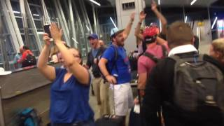 Flight delayed so Cubs fans could witness World Series WIN - REACTIONS