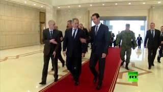 شاهد.. لحظة استقبال الرئيس السوري بشار الأسد لـ وزير الدفاع الروسي شويغو