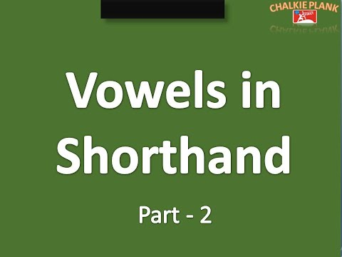 Vowels in shorthand