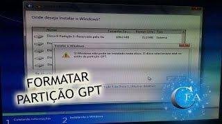 Como Formatar HD com Partição GPT