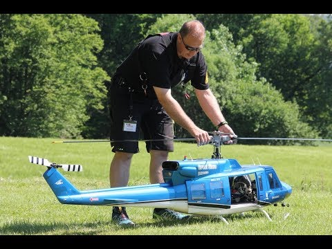 Giant Scale Helicopter RC Model  Bell 212