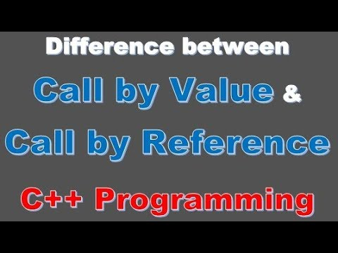 Fundamental Programming -92- difference between call by value and call by reference c++