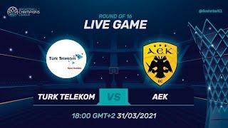 Türk Telekom V AEK - Full Game | @Basketball Champions League