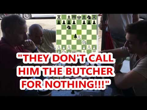 2 Of The Strongest Coffee Chess Players Battle It Out! Destroyer vs. Butcher
