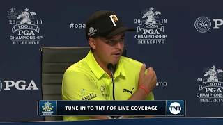 Rickie Fowler reaction to first-round 65 at PGA Championship