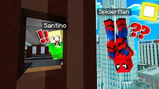 Ik Speel SPIDERMAN HIDE & SEEK In MINECRAFT!