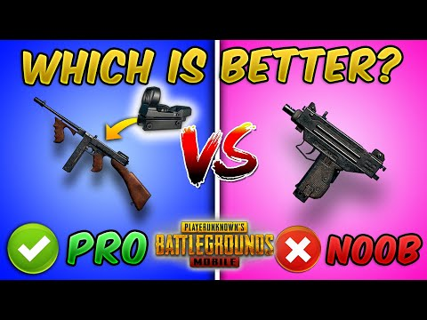 New Thompson VS UZI (PUBG MOBILE) which SMG is better? Weapon Comparison Guide/Tutorial