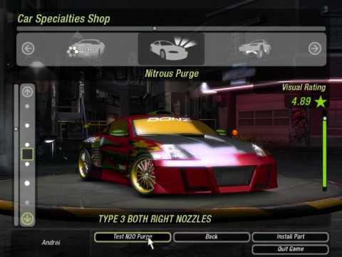 Nfs Underground 2 Nissan 350z Tunning Youtube