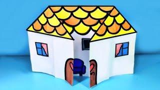 как сделать оригами домик из бумаги видео для детей