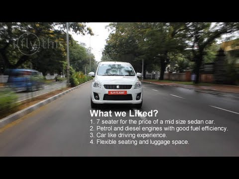 2012 Maruti Suzuki Ertiga video review by iflythis team