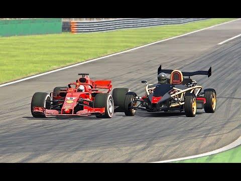 Ferrari F1 2018 Vs Ariel Atom V8 - Monza