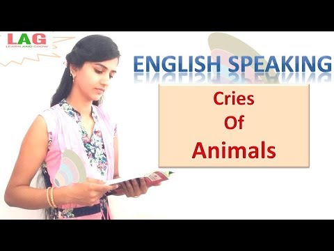 Cries Of Animals In English