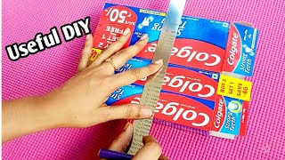 Easy & Amazing craft idea from waste material/ Best Reuse Idea From waste Colgate Boxes / How to