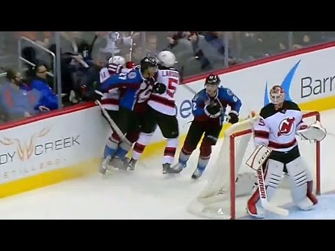 Martinsen takes out two Devils with big hit