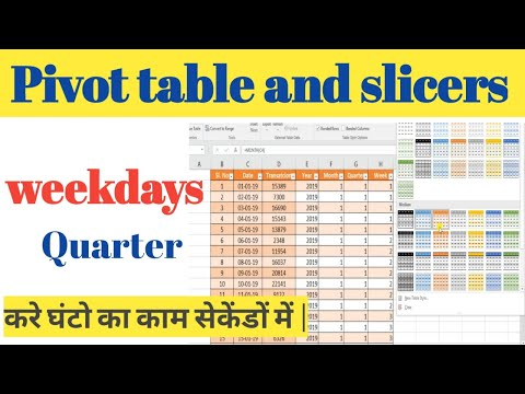 pivot table and slicers || add slicer to pivot table || excel pivot table tutorial in hindi