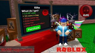 PURCHASING THE ELITE GAME-PASS IN MURDER MYSTERY 2!!! | Roblox