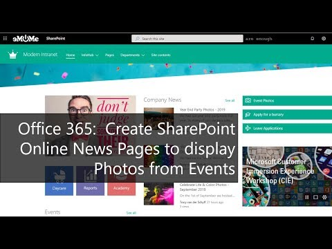 Create SharePoint Online News Pages To Display Photos From Events