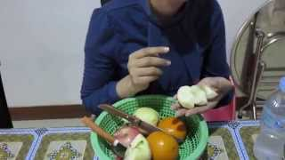 Apple, Orange, Pear Fruits Prepare For After Lunch | Cambodia Home Fruits For Family