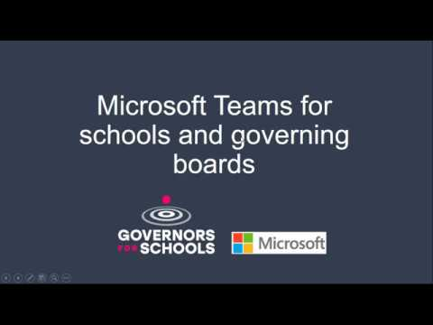 Microsoft Teams For Schools And Governing Boards Presented With Microsoft