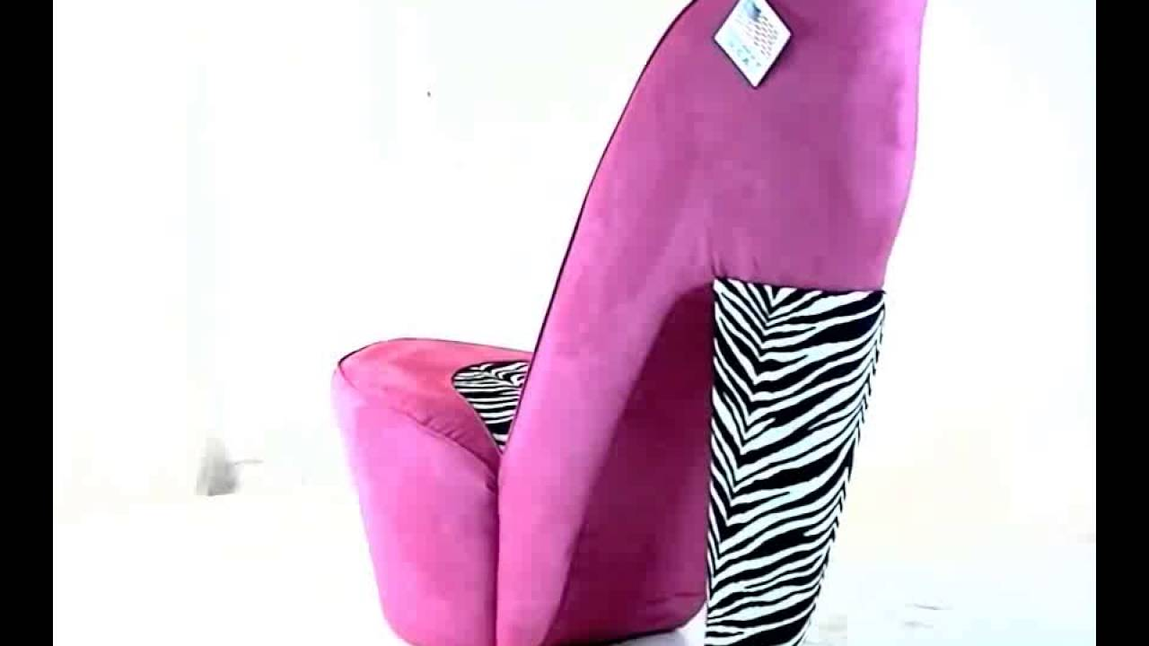 Zebra U0026 Hot Pink High Heel Shoe Chair | Recliner Chairs On Sale   YouTube