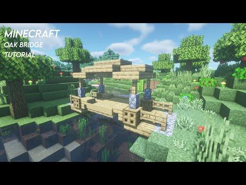 Minecraft - How to Build a Oak Bridge - Oak bridge Tutorial