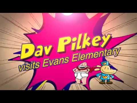Dav Pilkey visits Evans Elementary
