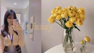 Vlog #23 남대문 꽃시장 가서 봄맞이 꽃 사고, …