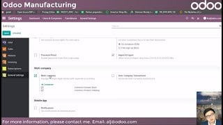 Odoo Manufacturing: Manage your factories with Odoo apps