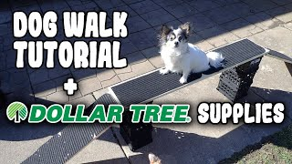 How to Make A Dog Walk Fast & Inexpensive! Dog Agility Training Equipment at Home!