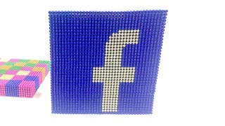 DIY - How To Make The Facebook Logo with Magnetic Balls | Satisfying and Relax