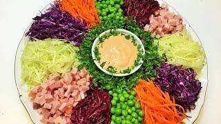 Салат НОВОГОДНИЙ КАЛЕЙДОСКОП. Новогодний конкурс. Salad
