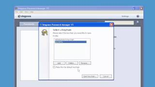a quick look at Steganos Password Manager