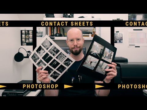 How To Make a Film Style Contact Sheet in Photoshop - Tutorial thumbnail