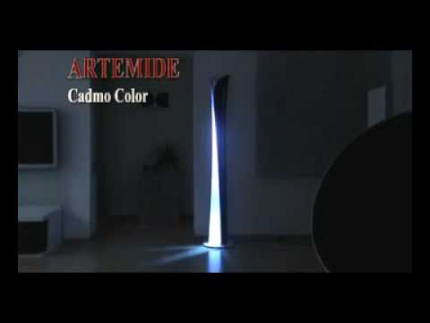 artemide cadmo color stehleuchte mit farbwechsel youtube. Black Bedroom Furniture Sets. Home Design Ideas