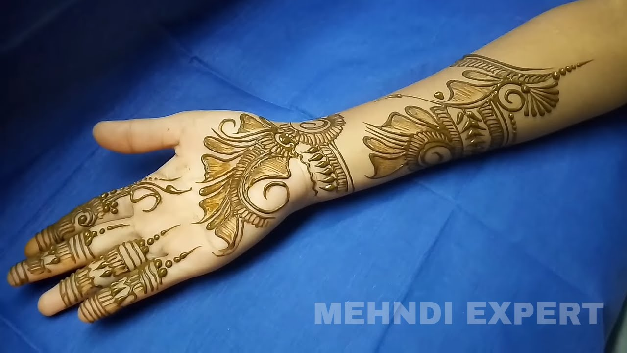 Henna Or Mehndi : New indo arabic henna or mehndi design by homemade cone