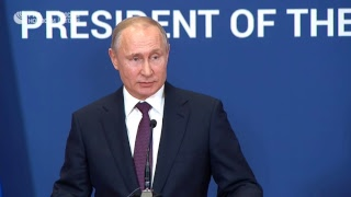 Совместная пресс-конференция Путина и Вучича