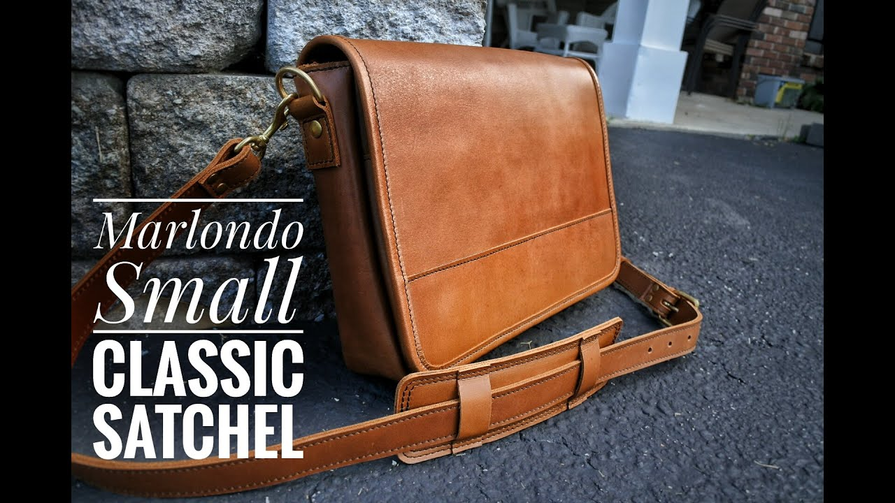 e056193fe1 Unboxing of the Marlondo Small Classic Leather Satchel in Tobacco ...