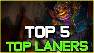 TOP 5 BEST TOP LANERS - Patch 6.14   League of Legends