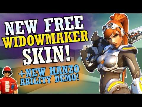 New Free Widowmaker Skin! & Hanzo New Ability Concept Demo! (Overwatch News)