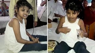 Real-life 'Mowgli Girl' found Living with Monkeys in India