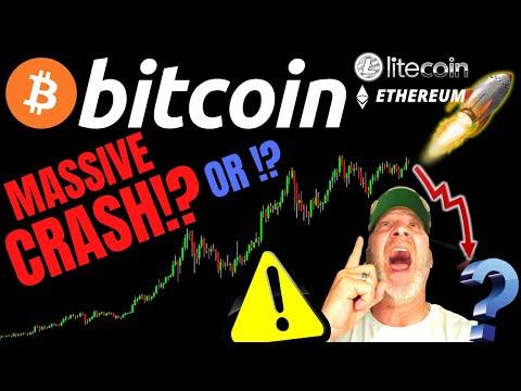 MASSIVE BITCOIN CRASH!!?? or PUMP!? Litecoin Ethereum
