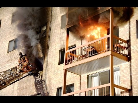 Early video from 3-alarm apartment fire in Pikesville, Maryland