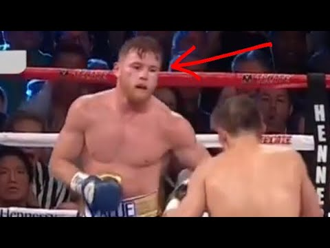 The moment Canelo feared Golovkin. The eyes never lie. (HD)