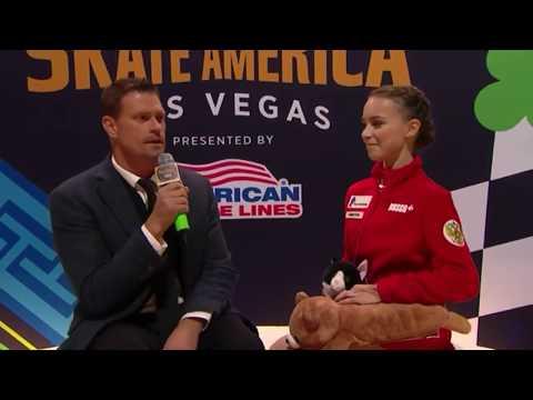 Anna SHCHERBAKOVA Skate America FS INTERVIEW 160+