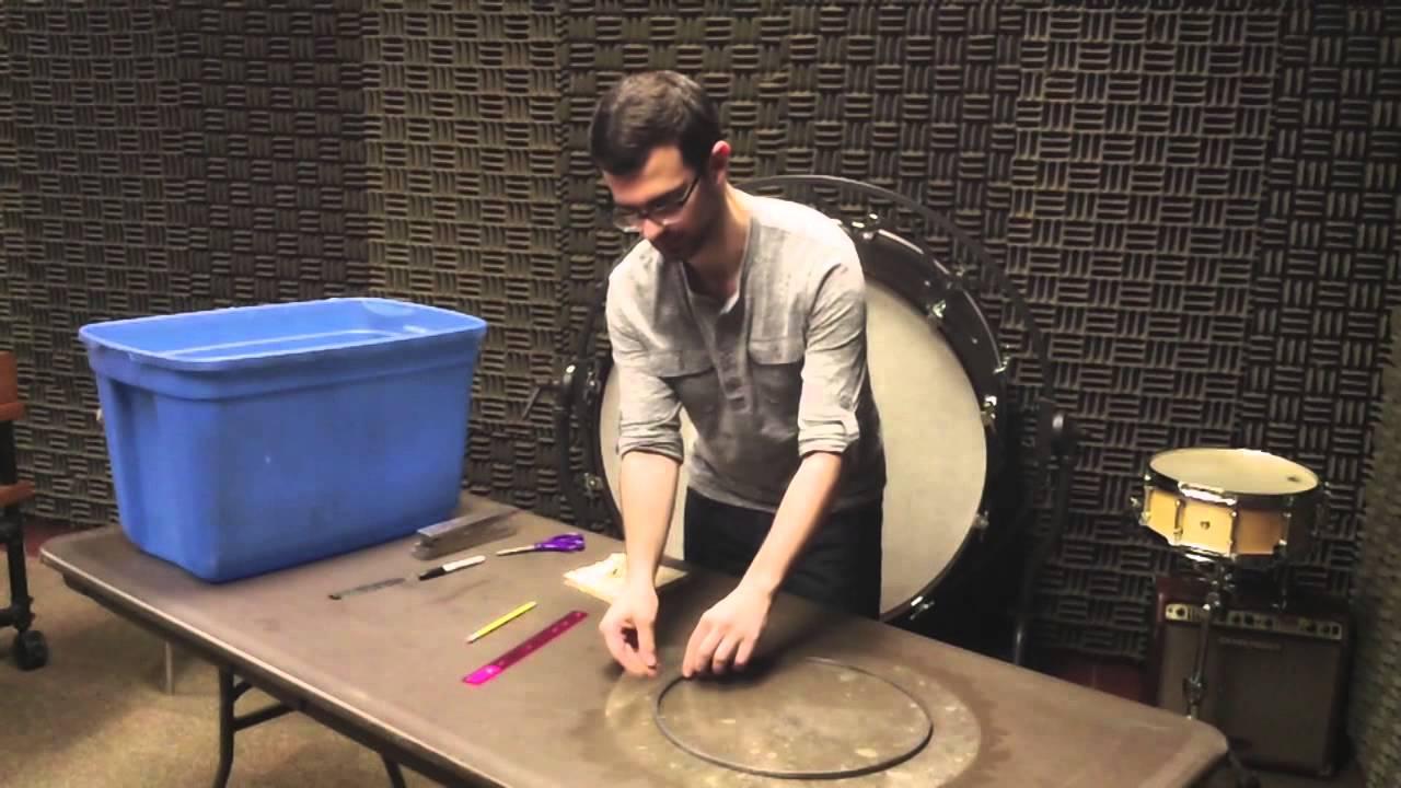 tucking a calfskin snare drum head youtube. Black Bedroom Furniture Sets. Home Design Ideas