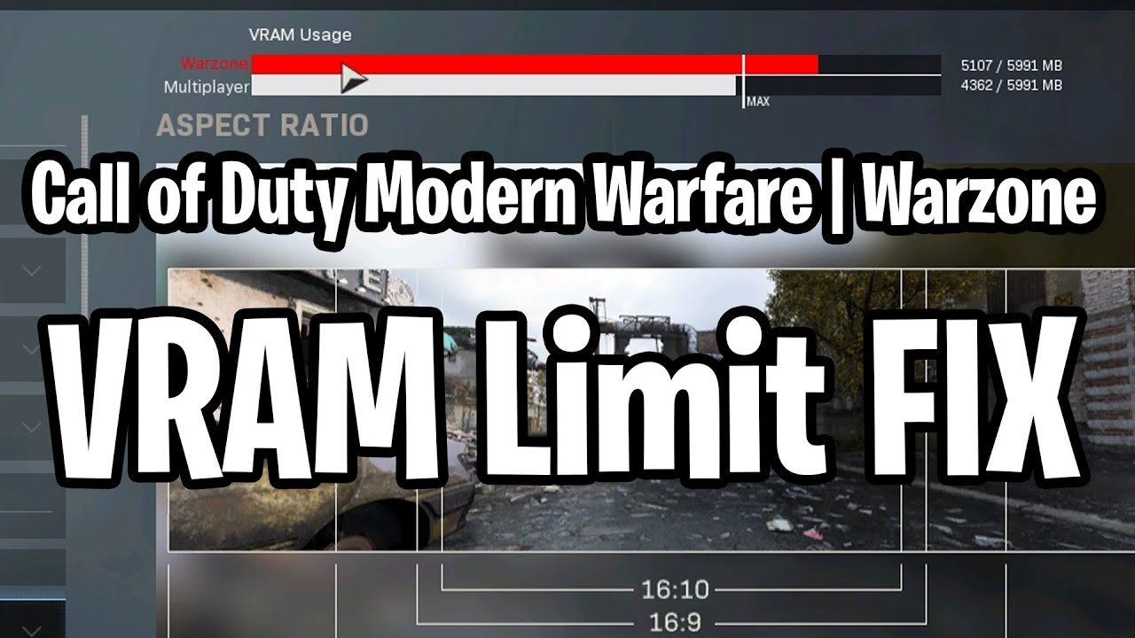 Call Of Duty Warzone Vram Limit Fix Youtube