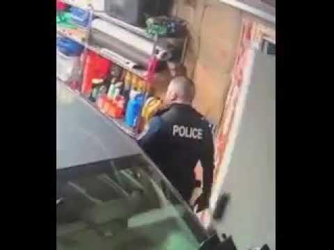 Massena officer damages property