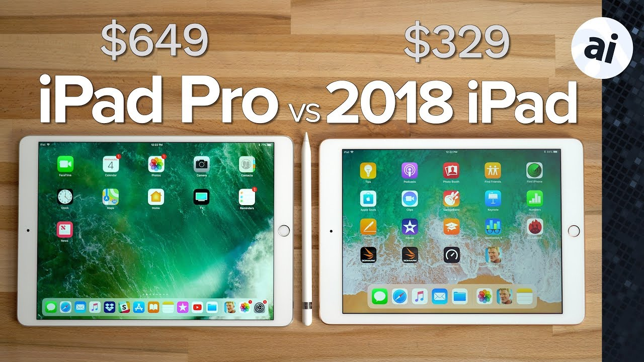 2018 ipad vs 2017 10 5 ipad pro ultimate comparison. Black Bedroom Furniture Sets. Home Design Ideas