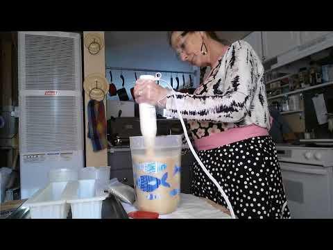 The Making of Hippy Chick's - Clay Soap /w Argan oil, Meadowfoam oil, Alfalfa Leaf powder