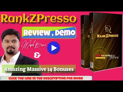 RankZPresso Review ⚠️ ALERT ⚠️ DON'T GET RANKZPRESSO WITHOUT MY 🔥 EXCLUSIVE 🔥 BONUSES from YouTube · Duration:  19 minutes 34 seconds